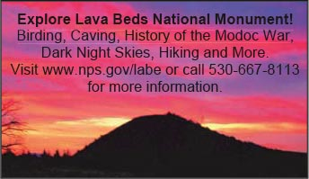 Lava Beds National Monument Advertisement.