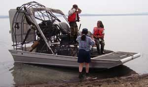 Photo: Airboat and people.